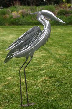 garden art | Metal Heron Yard and Garden Art by CWMetalWorks on Etsy