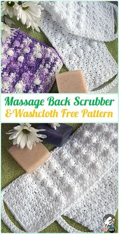 Crochet Patterns Blusas Crochet Pampering Massage Back Scrubber and Washcloth Free Pattern - Crochet Spa Gift Ideas Free Patterns - Crochet Gifts, Crochet Yarn, Free Crochet, Cotton Crochet, Crochet Faces, Irish Crochet, Spa Crochet Patterns, Crochet Scrubbies, Washcloth Crochet