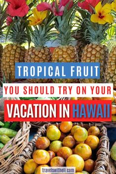 No Hawaiian vacation will be complete without sampling some of the tropical fruit in Hawaii. Hawaiin fruit isn't just pineapples and bananas. Try something exotic like lilikoi (passion fruit), or rambutan. Read on to find what Hawaiian tropical fruit is available, where to find it, how to eat it, and when it is in season. #hawaiinfruit #hawaiitravel #hawaiianvacation Hawaii Vacation Tips, How To Grow Bananas, Hawaiian Names, Mango Tree, Fruit Stands, Variety Of Fruits, Tropical Fruits, Fresh Lime Juice, Eat Right