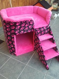 I ღ Cats. Cute Dog Beds, Puppy Beds, Diy Dog Bed, Pet Beds, Personalized Dog Beds, Dog Bedroom, Puppy Room, Animal Room, Dog Furniture