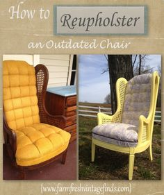 """Lately I'm realizing that my computer is a treasure trove of projects I've worked on over the last couple of months and forgotten about. This chair, for example is just that. I had completely forgotten about reupholstering it until I started my """"spring clean"""" of my computer last week. I blogged about a chair I […]"""