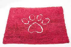Dog Gone Smart Dirty Dog Doormat Large Maroon * Continue to the product at the image link.