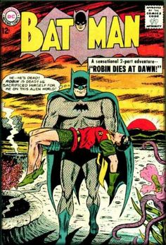 Robins Death - Alien World - Outer Space - Superheroes - Caped Crusader - Sheldon Moldoff