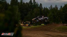 Rob Mac coming off a jump in Crandon..