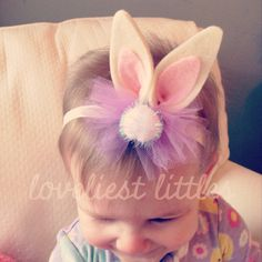 Bunny Ears Tulle Bow Headband // Easter // Spring // Baby on Etsy, $15.30 AUD