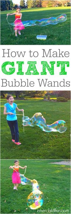 How to Make Giant Bubble Wands -- so cool!!                                                                                                                                                                                 More