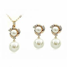 New Sale Dan's Element R.A Austrian Crystals    Pearl Jewelry Set for women  #RA80537+20305 #Affiliate