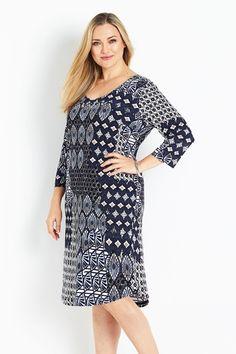 Belle bird Belle Aria Print Shift Dress - Womens Knee Length Dresses - Birdsnest Online