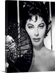 Large Solid-Faced Canvas Print Wall Art Print entitled Ava Gardner B