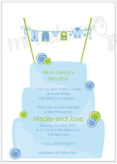 "Baby Shower invite available at www.menalove.com (like the color and photo; must change ""craving a boy"" weird.)"