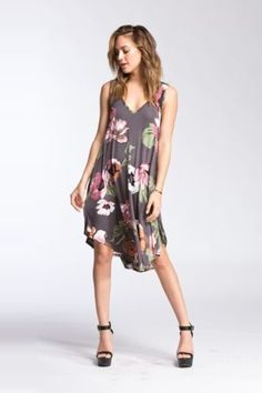 EBAY: Last One! Only $20.99 + Ships FREE! CHERISH Floral Sleeveless V neck Asymmetrical hem MIDI Dress M Grab It: http://ebay.to/2Fv1r2P #ad