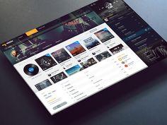 MyMusic Web Concept