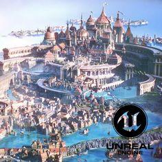 Fantasy World Map, Fantasy Town, Dream Fantasy, Fantasy Life, Fantasy Castle, High Fantasy, Fantasy Landscape, Landscape Art, Storyline Ideas
