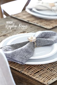 These DIY Rustic Birch Napkin RIngs are perfect for simplistic  entertaining. A project you can 6cbbffc1e0