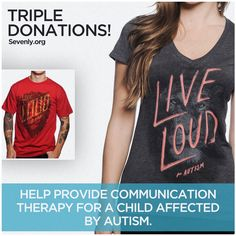 AUTISM SPEAKS is back for 24 hours...and each purchase is a TRIPLE DONATION!!! Hurry up and HELP --> http://sevenly.org/pinforgood