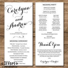 7 best wedding programs images on pinterest in 2018 bridal