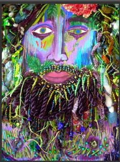 Michael Sylvan Robinson's Dionysus Grown Up - Mr X StitchContemporary Embroidery