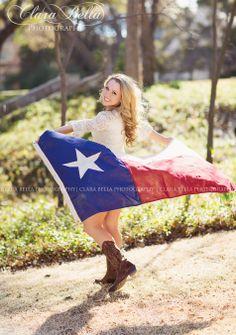 Clara Bella Photography by Claire Anderson | Dallas & Los Angeles Senior Photographer | #TexasSenior #TexasFlag
