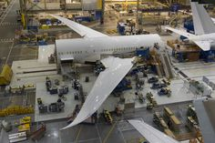 Air Canada Picture of our first Boeing 787 Dreamliner aircraft, straight from the Boeing factory in Seattle. We can't wait for the inaugural flight this spring! // Image de notre premier appareil Boeing 787 Dreamliner, directement de l'usine Boeing à Seattle. Nous avons très hâte au vol inaugural, ce printemps!