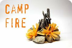 Scouts- Camp Fire  blue and gold banquet table decorating idea  http://smilemonsters.blogspot.com/2011/07/camp-fire-sun-smores.html