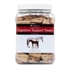 PSCEquine Digestion Support Treats for Horses by PSCPets. $11.49. PSCEquine Digestion Support Treats for Horses are a lactose-free treat that taste delicious and are also a good source of healthy bacteria.. PSCPets brand products are backed by our 100% satisfaction Guarantee! You may return PSCPets brand products any time for a full refund of the purchase price (excluding shipping charges).. PSCEquine Digestion Support Treats for Horses encourage healthy gastrointestinal functi...