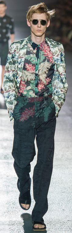 Bold, Dries, very bold. #textileart #textiledesign #printandpattern \\ Dries Van Noten - Spring 2014