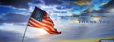 4th of July Timeline Covers | 4th of July / Memorial Day Facebook Cover with American Flag in Sunset