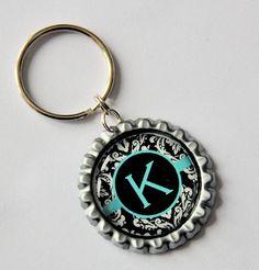 Bottle cap keychain