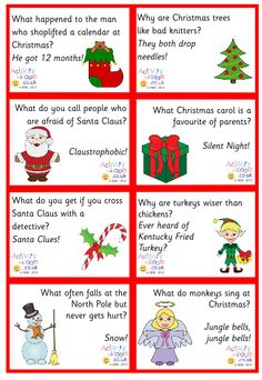 Christmas jokes for kids. I will be putting some of these in their advent calendar Christmas Jokes For Kids, Christmas Lunch, Christmas Crackers, Christmas Activities, Christmas Printables, Winter Christmas, All Things Christmas, Christmas Crafts, Christmas Decorations