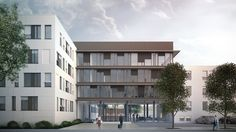 Architekturvisualisierung Stuttgart stadtbibliothek stuttgart architekt eun yi schnittgrafik