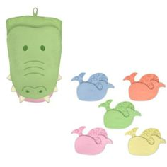 green sprouts Tiny Bath Mat and Organic Bath Puppet, 3 Months, Gator by i Play, http://www.amazon.com/dp/B0061HR298/ref=cm_sw_r_pi_dp_puD0rb0KS2NVG