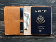 Passport Online, Leather Passport Wallet, Leather Purses, Leather Case, Money Clip Wallet, Document Holder, Gifts For Boss, Passport Cover, Custom Leather