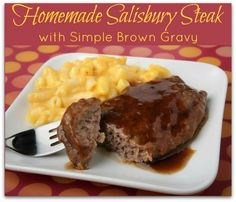 Homemade Salisbury Steak with Simple Brown Gravy Recipe