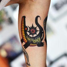 Alligator #tattoo by David Cote, Booking/inquiries:  thedavidcote@gmail.com