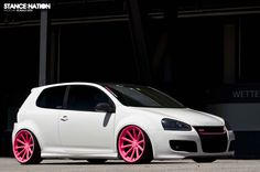 VW Golf GTI Rims Pink