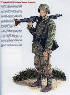 World War II Uniforms -Germany - Waffen SS 12th Panzer Grenadier Division Hitlerjugend - Normandy 1944