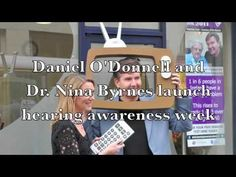 Daniel O'Donnell & Dr Nina Byrnes launch the 2011 Hearing Awareness Week. This year the focus is in family and friends who can help in the discovery and remedy of hearing loss. O Donnell, Discovery, Product Launch, People, Friends, Film Quotes, Life, Amigos, People Illustration