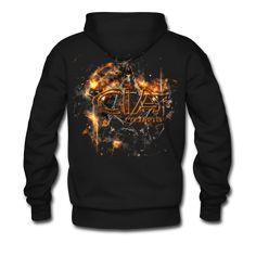 Men's Premium Hoodie Hoodies, Sweatshirts, Cyber, 3 D, Goth, Industrial, Punk, Metal, Black