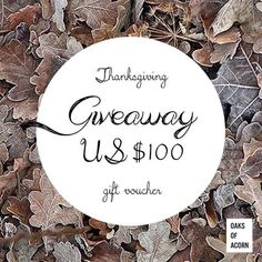 Don't miss your chance to WIN $100 from @oaxacaborn in their Thanksgiving Giveaway. To enter visit @oaksofacorn. . .  #Repost @oaksofacorn:Thanksgiving Giveaway Its that time of the year again! We are offering a US$100 gift voucher to a LUCKY WINNER WORLDWIDE!  To WIN simply: 1) Follow us 2) Repost this post on your public account add #WhereTheFunContinues 3) Tag 3 friends  The contest starts TODAY we will announce our WINNER on THANKSGIVING DAY Nov 24th. HAVE FUN & GOOD LUCK!  Fine print…