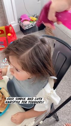 Easy Toddler Hairstyles, Easy Little Girl Hairstyles, Cute Hairstyles For Kids, Baby Girl Hairstyles, Summer Hairstyles, Messy Hairstyles, Hair Due, Magic Hair, Hair Styler