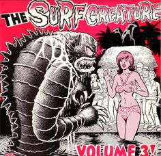 Darren Merinuk for Various - The Surf Creature - Volume 3 Everybody Up, Mundo Musical, R Vinyl, Rock Style, Album Covers, Cool Art, Erotic, Surfing, Creatures