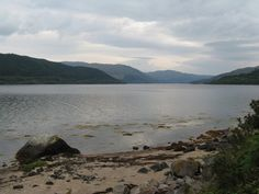 Loch Sunart from the beach at Strontian. -done