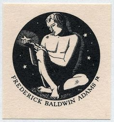 Frederick Baldwin Adam's bookplate