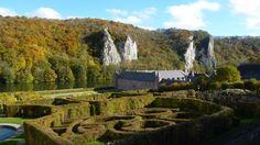 View on the mazes at Freÿr Castle.  (C) A. B. de L.  ==> www.freyr.be & www.friendsoffreyr.eu