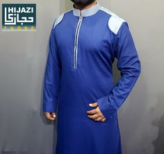 Hijazi Thobe Islamic Designer Clothing Ready Made Designer Arabic Thobes Jubba Kandura Kaftan Etc Contact For Wholesale & Retail 8097 369 548 8655 780 905 Fashion Suits, Men Fashion, Jubbah Men, Mens Kurta Designs, Designer Suits For Men, Designer Clothing, Eid, Kaftan, Mens Suits