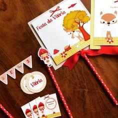 Kit Festa Chapeuzinho Vermelho #papelcomdesign #papelariapersonalizada #festaspersonalizadas #lembrancinhas #festainfantil #especialgifts # casinhavovó #chapeuzinhovermelho