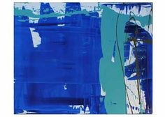 Vivid strokes and an interesting composition make Blues Theme and incredible statement piece. Great for modern decor areas or eclectic spaces, this oversized piece, by artist Karen Salem, generates energy as well as a cool breath of fresh air. Acrylic on canvas, 60 x 48.