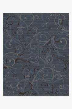Rug + Pad System / 8'x10' Washable Area Rugs, Machine Washable Rugs, Teal Rug, 8x10 Area Rugs, Natural Rug, Colorful Rugs, Slate, Transitional Style, Espresso