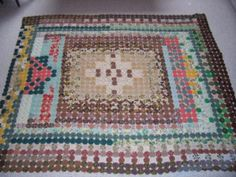 Beautiful Vintage YoYo Quilt in Autumn Colors Handmade | eBay