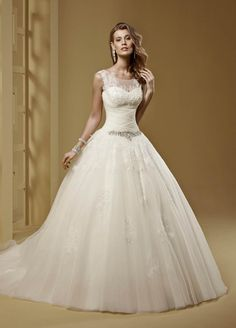 Editor's Pick: Glamorous and Sophisticated Nicole Sposa Wedding Dresses 2015. To see more: http://www.modwedding.com/2014/10/02/editors-pick-glamorous-sophisticated-nicole-sposa-wedding-dresses-2015/ #wedding #weddings #wedding_dress